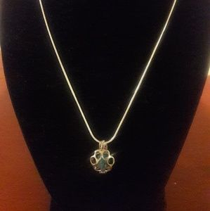 SOLD**CUSTOMIZABLE Essential Oil Paw Cage Necklace